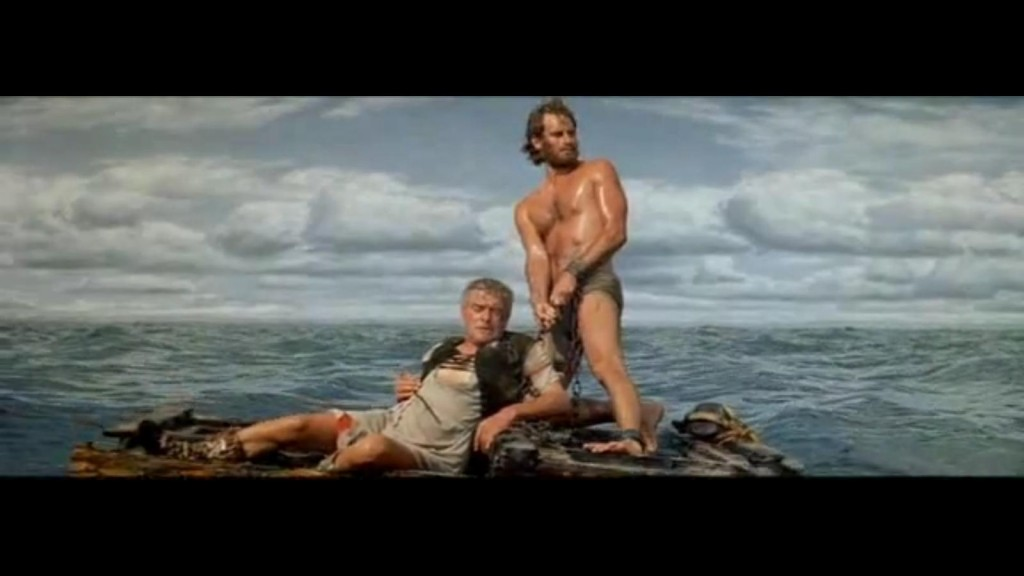 """In the """"Belly of the Whale"""".  Ben Hur, having saved his oppressor's life, tranitions from slave to adopted son, a restored Roman citizen.  But this is only another threshold to cross, since he despises the Romans.  Photo public domain."""
