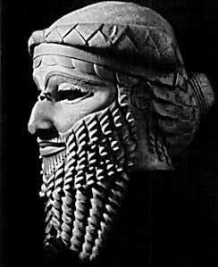 A Mesopotamian bust, purported to be the image of Gilgamesh.  Photo public domain.