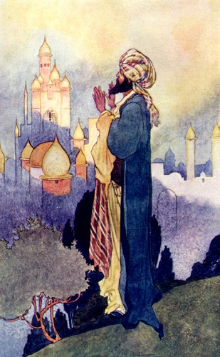 """Old Time Tales"", by Charles Robinson.  The Fairy-tale quality may hide an unpleasant reality."