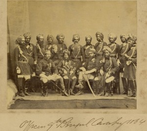 English and Indian Officers of the 9th Bengal Calvalry in British service.  A relationship of mutual admiration which for some regiments, continues to this day.  Photo from Pinterest.  https://www.pinterest.com/pin/175147872979925569/