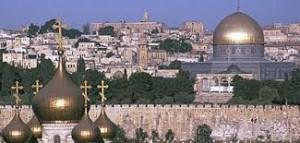 """Oh, Jerusalem!""  A city of three religions.  Photo public domain."