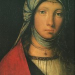 Painted by an Italian with a similar name as the author of the Decameron, this Gypsy girl strikes me as a possible pass for Griselda.  Painting by Boccaccio Boccacino, ca. 1516-18.  Florence Italy.