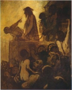 """""""We want Barabbas!""""  by Eric Edwards.  A God who let himself be sacrificed by that which He created, so that that which He created might have eternal life.  No that's a bit different."""