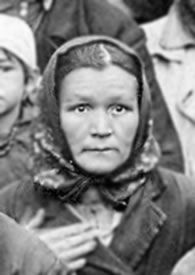The haunting image of Maria Tchebotareva who was sent to the Gulag in 1933. Her crime was trying to feed her children from a field she had formerly owned.  She was accused of taking 3 pounds of rye.  For this, she was imprisoned until after Stalin's death and she never found her children...Photo by Gulaghistory.org