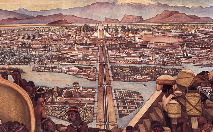 The capital of the Aztecs, Tenochtitlan, where the temple stood.  From https://www.google.com/url?sa=i&rct=j&q=&esrc=s&source=images&cd=&cad=rja&uact=8&ved=0CAYQjB0&url=http%3A%2F%2Fquintessentialruminations.wordpress.com%2F2012%2F05%2F07%2Ftenochtitlan-city-of-the-aztecs%2F&ei=aYVeVM6rDqSaigLY3IHYCg&psig=AFQjCNFiOHsPu97gY3cAEu95oRnD3DKCBg&ust=1415566911210515